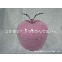 供应不锈钢饭盒 创意饭盒 苹果造型双层饭盒