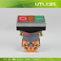 LA110-A2-R 双位按钮 瞬动型按钮 手动按钮 红绿双位按钮