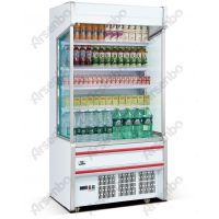 超市风幕柜厂家 一体机牛奶保鲜柜 立式鲜奶柜 敞开式展示柜 鲜奶陈列柜