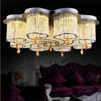 LED水晶吸顶灯 现代简约创意个性吸顶灯 客厅餐厅卧室灯具批发