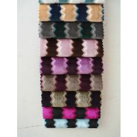秀拓 波浪形条纹绒布 软包 沙发家居装饰布 厂家直销 特价销售