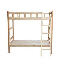 供应新款双层床 护栏公寓床1米青年旅馆床 上下铺床 结构稳固 安装简便 尺寸可定制松木床