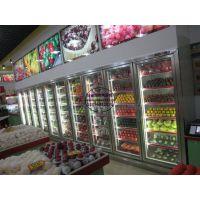 立式直冷玻璃门水果柜 北京水果超市保鲜柜 蔬菜水果冷藏展示柜
