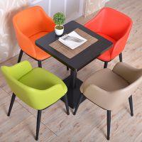西餐厅长条铁艺实木桌椅 海德利原木色自然纹餐桌 多功能桌椅