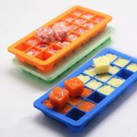21格创意食品级硅胶冰格婴儿宝宝辅食盒冰块模具保鲜盒制冰盒带盖
