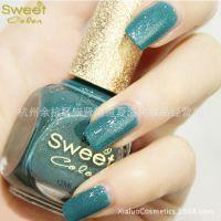 sweet color指甲油 护甲油多色多款厂家批发品牌甲油 爱丽丝蓝