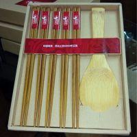 东莞促销礼品采购 真功夫礼品餐具 定做铁木筷子饭勺礼盒套装