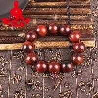 厂家直销红酸枝手串2.0 高密顺纹佛珠男款女士情侣手链 文玩手串