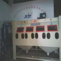 珠海厂家定做四工位分体加压式非标喷砂机效率高并可多人同时操作