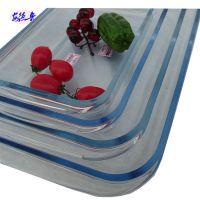 透明耐热鱼菜盘子 微波炉烤箱托盘【新品】长方形钢化玻璃烤盘