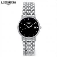 浪琴瑞士手表 瑰丽系列 石英钢带男士手表 联保正品L4.720.4.97.6