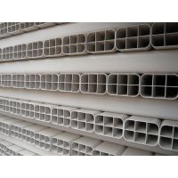 4孔格栅管 PVC栅格管 塑料管方管 顶管厂家批发