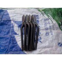 湖北扬威机械手工锻打镶钢铁皮剪刀剪子不锈钢白铁板镀锌板铁皮剪定做直头弯头(35mm-55mm)