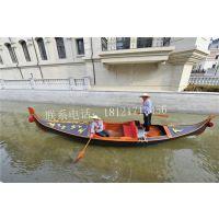 湖南湖北木船出售景区贡多拉旅游船摄影道具船欧式手划客船
