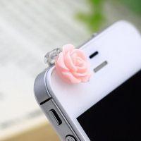 韩版自然小清新玫瑰花手机防尘塞 Ebay速卖通货源 ALQP20140206