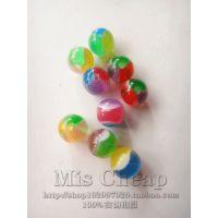 DIY树脂饰品配件 异域风情 透明彩色三色西瓜珠项链手链手工串珠