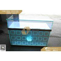 LED绿光土豪金苹果手机柜台_创意苹果手机展示柜制作厂家