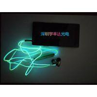 厂家生产制造 EL发光耳机线 EL发光耳机线材led发光耳机线