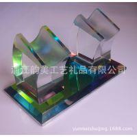 水晶话筒架 KTV用品 高档水晶话筒架 水晶麦克风摆放架 厂家批发