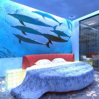个性定制主题背景饭店宾馆酒店专用墙纸壁纸店面装修墙布ktv壁画