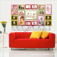 供应照片墙义乌厂家 定制组合加厚原木色像框相框照片墙 可小额混批发
