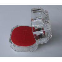 小饰品透明水晶戒指盒 亚克力戒指盒子首饰盒礼品盒 耳钉盒批发