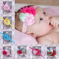 热卖欧美儿童发带 玫瑰花苞碎花宝宝头带婴儿摄影头饰花