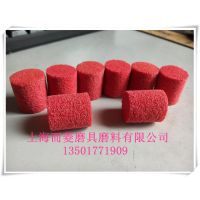 厂家供应 金属抛光拉丝磨头 红色尼龙抛光磨头 拉丝磨头 纤维磨头