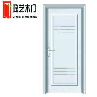 家装实木套装门 红色油漆门实木门定做 室内烤漆木门