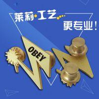 锌合金镂空造型胸针,国外高级品牌胸针定,莱莉徽章厂家
