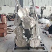 云南西洋乐器雕塑玻璃钢仿真竖琴树脂倍大提琴管弦乐器雕塑摆件