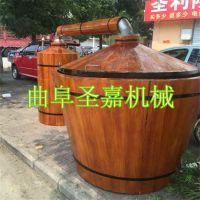 传统液态酿酒设备厂家直销 圣嘉不锈钢储酒罐低价促销