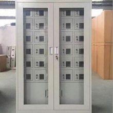 落地式铁皮手机柜商场存包柜钢制文件柜款式 54门手机充电柜采购
