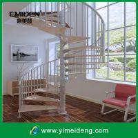 厂家热销可定制室内时尚钢木楼梯/旋转家用斜爬梯钢木楼梯YMD-1024