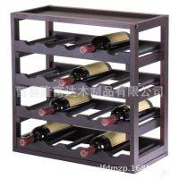 厂家直供木制红酒架 创意红酒葡萄酒展示架 实木多功能厨房置物架