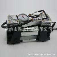 厂家批发 优质车载充气泵金属双缸 汽车大功率轮胎充气泵