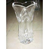 供应新款透明小号花口玻璃花瓶 室内办公室养花玻璃花瓶 批发