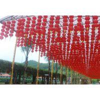 批发日韩式圆折叠南瓜绸缎大红灯笼金边小灯笼串跳舞灯笼婚庆装饰
