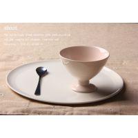 新骨瓷 冰激凌碗 高脚陶瓷碗  创意碗 出口餐具 可印logo