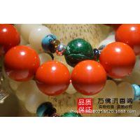 【正品现货】天然台湾朱砂 1.6厘米*13颗 佛珠 念珠手链手串