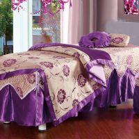 美容床罩按摩床四件套 订做高档洗头床床罩