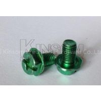 Phillips slot indented hexagon washer special machine screws with color zinc plated