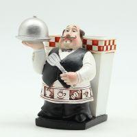 欧式西餐厅服务生刀叉餐具收纳筒创意家居小摆件树脂工艺装饰品A