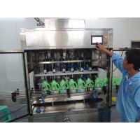 洗衣液全自动灌装生产线 电脑伺服直线活塞灌装机