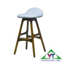 【扬韬家具工厂直销】简约酒吧椅子 实木优质西皮椅子 SGS认证 图片