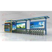 自行车棚rl-zxcp-001,公交候车亭,自行车棚厂家,郑州,锐珑标识