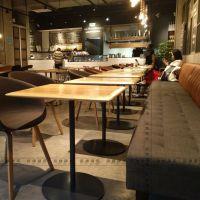 现代简约轻食餐厅方桌定做轻食餐厅实木桌子生产厂家