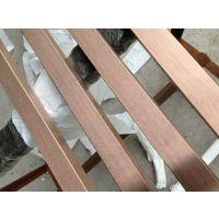 304拉丝不锈钢古铜管,仿古铜不锈钢方管,水镀方通价格