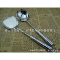 批发无磁不锈钢锅铲 厨具用具炒铲勺 无磁钢柄铲壳