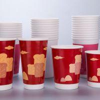定做12oz奶茶纸杯 有QS认证 可定制logo